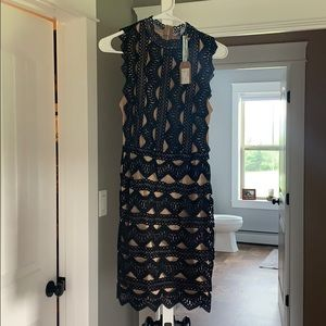 Black and Tan boutique dress